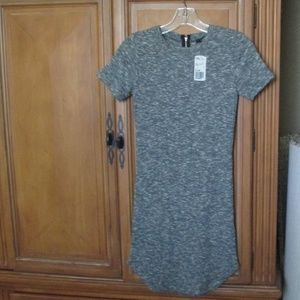 Forever 21 Gray Dress soft waffle jersey knit S